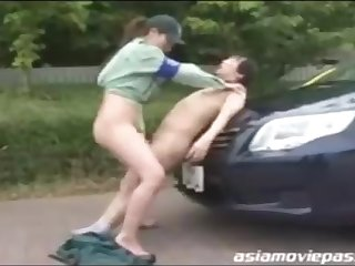 Chinese police woman enjoys to have casual romp with various dudes who need to pay the good