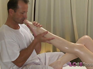 Love Creampie Young redhead is stretched wide open