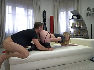 Sultry Russian gal Kiara Knight is fucked by Italian stud Rocco Siffredi