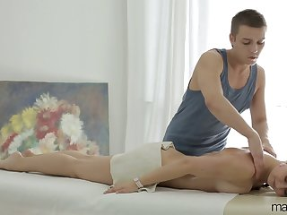 Young masseur fucks anus and wet pussy of Russian client Vika Volkova