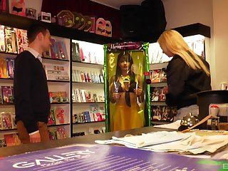 Group sex in the store with sexy Mariskax is memorable for these people