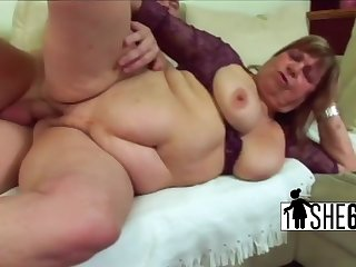 Hairy pussy gets got laid with big chopper