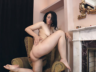 Love Morris strips naked by her fireplace  - Compilation - WeAreHairy