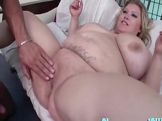 Fat mature Kacey Parker fucked and her massive tits bounce