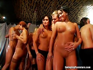 Barbara Summer invited over male strippers to fuck her brains out