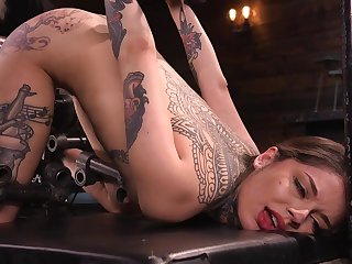 Tattooed babe Vanessa Vega got punished in hard way