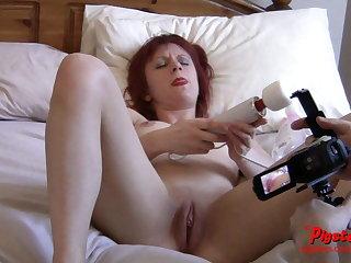 Naked Old Brit Camera Man Films Ember Elektra Masturbating