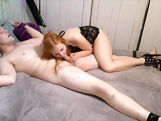 Boy Gets Tied up and Rode till he Cums
