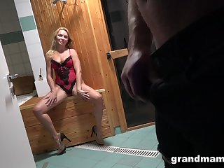 Young Alfonso is fucking seductive aged woman in sexy lingerie