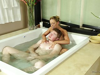 Erotic Nuru massage ends with a facial for sweet Cherie DeVille