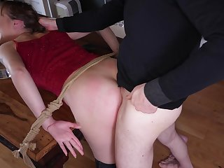 Submissive Sailor Luna excited by pleasure and pain at the hands of her Dom