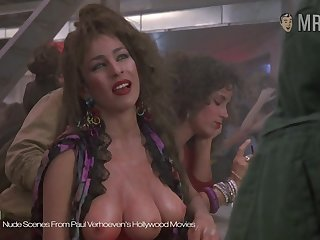 The three breasted hooker from Paul Verhoeven's movie flaunting her assets