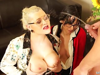 Super hot fully clothed Pissing threesome Fetish