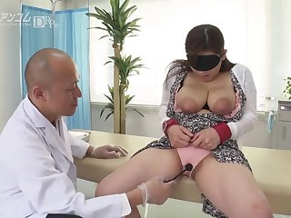 Horny asian doctor and busty young lady