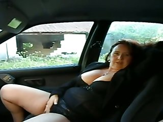 This busty mature woman wants me to play with her pussy in my car