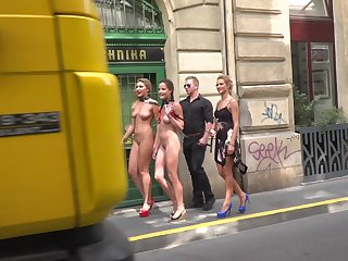 Hardcore fucking and humiliation in public with Cherry Kiss