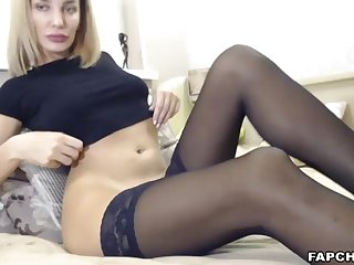 Watch As That Hot Stockings Cammodel Having Fun By Herself