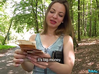 Fit amateur girl Lilit Sweet takes money to have sex with a stranger
