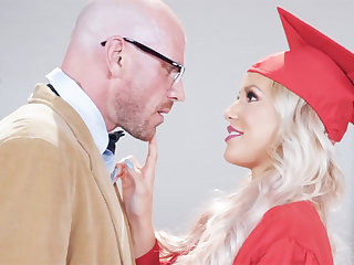 Gorgeous graduate gets power-fucked by will not hear of lecturer