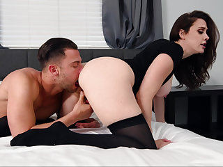 MILF on touching black rides a younger cock