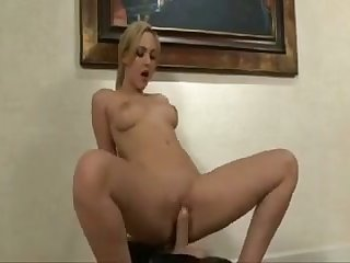 This slut is riding a Sybian machine and she's is in the need of a good fucking