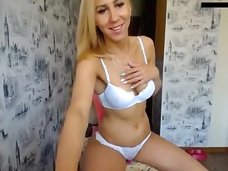 British Busty Lingerie Babe Solo
