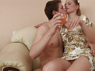Angels giving her scrounger blowjob then drilled hardcore