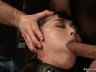 Asian screwed in public adult theater