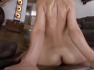Slim Euro blonde copulates with boyfriend in nice VR video