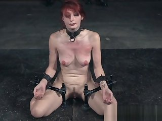 Redhead submissive humiliated in bdsm action