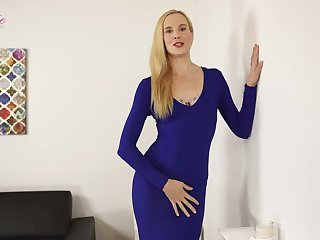Tall blond porn model Ariel Anderssen gets naked and teases with yummy ass