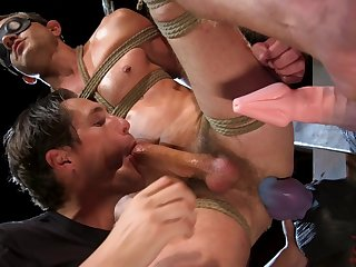 Gay porn in dirty fetish scenes with two fit men