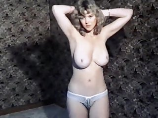Vintage British big tits boogie striptease dance