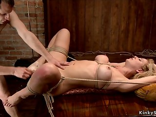 Bosomy Mother I´d Like To Fuck rough had intercourse in bondage